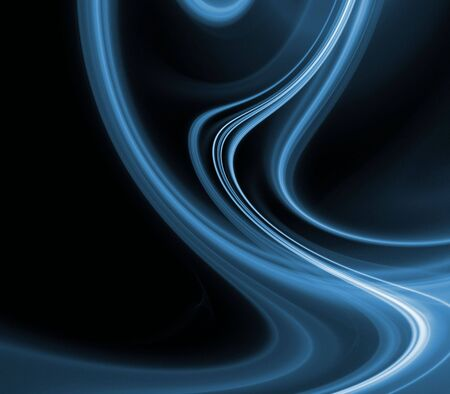swerve: Blue flowing and rippling texture with copy space - fractal abstract background