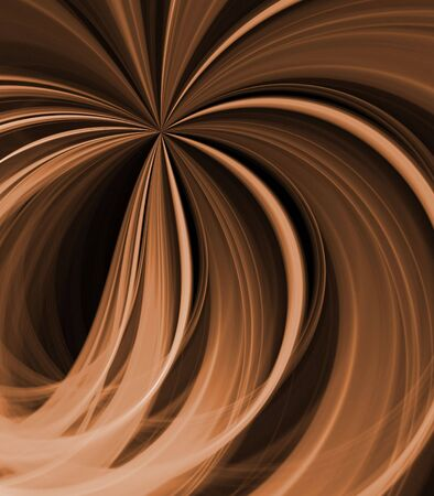 Flowing browns, in a fanning stripes and ribbons pattern - fractal abstract background
