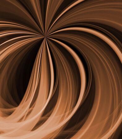 Stromende bruin, in een ventilatie-strepen en linten patroon - fractaal abstracte achtergrond