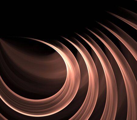 流れる、フラクタルの抽象的な背景色のリボンをカーリング