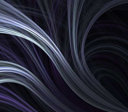 hues: Flowing ribbon textures in purple hues - fractal abstract background