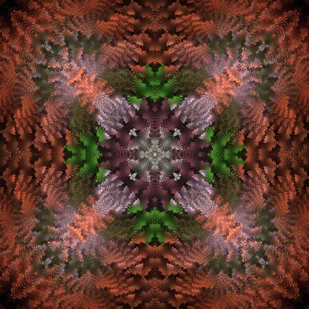 ruffles: Geometric, colorful kaleidoscopic ruffles design - fractal abstract background
