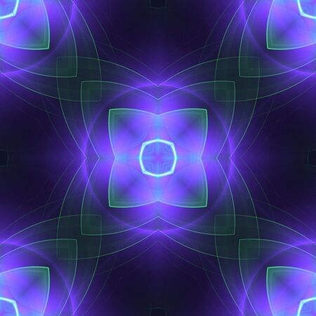 softly: Softly, threaded outlines, kaleidoscopic effect, seamless tile - digital abstract background