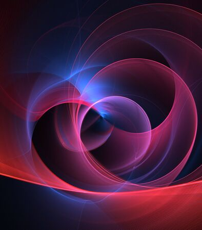 arching: Curving, arching colorful textures - fractal abstract background Stock Photo
