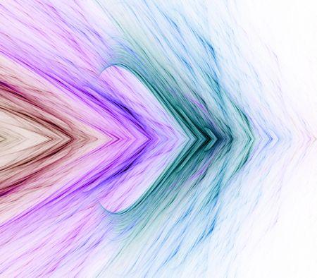 Kleurrijke vezelbestanddelen gelaagde arrow design - fractaal abstracte achtergrond