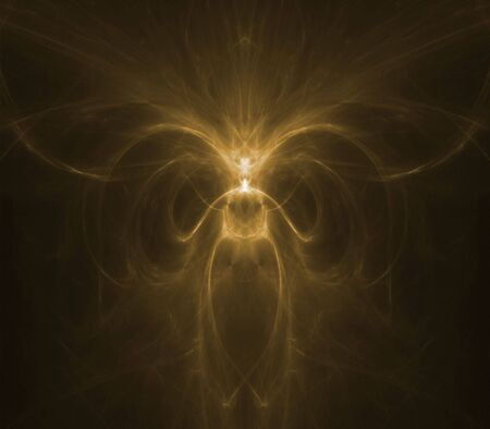 ethereal: Collage of ethereal, softly glowing textures - fractal abstract background Stock Photo