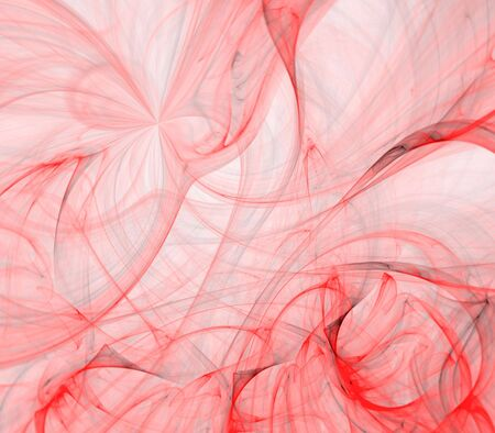 Tangling red textures effect - fractal abstract background
