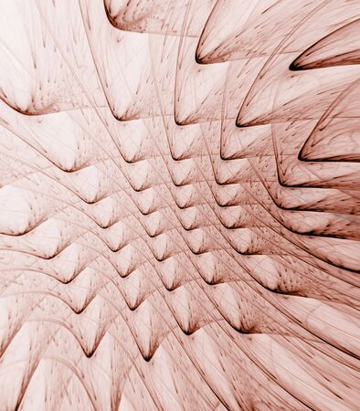 ridges: Curving ridges texture, reddish brown design - fractal abstract background