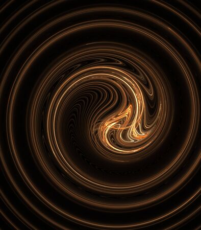 Golden brown, layered twist effect  - fractal abstract background photo