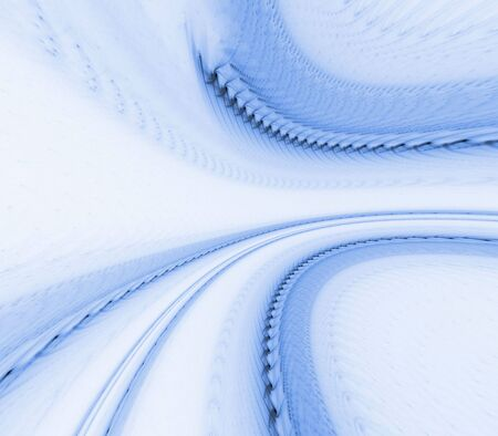 fibrous: Flowing, curving, fibrous lines and textures of blue - fractal abstract background