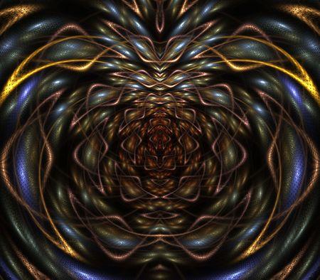 Kleurrijke geel en grijze geweven structuren - fractale abstracte achtergrond