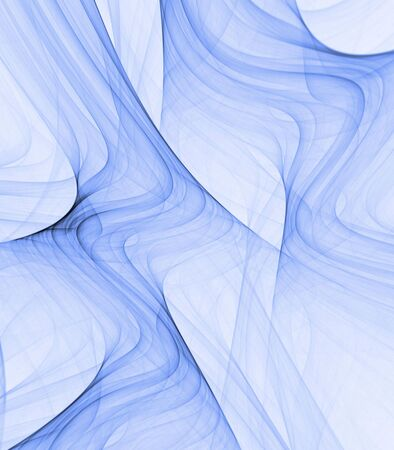 ripple effect: Flowing blues in a rippling, smoke pattern effect - fractal abstract background