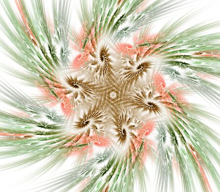 fibrous: Fibrous, textured, spiraling, multicolor star pattern design - fractal abstract background