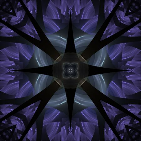 Pointed, seamless tile kaleidoscopic effect - fractal abstract background photo