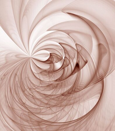 Verzameld en rippling patronen van bruin - fractale abstracte achtergrond