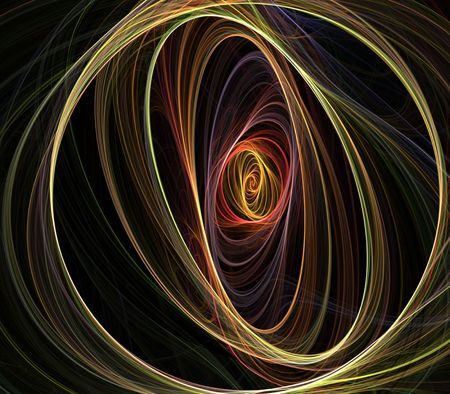 threaded: Threaded, multicolor circular spiral design  - fractal abstract background
