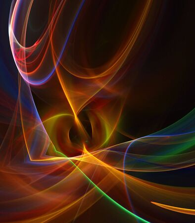 Colorful, flowing textures, softly glowing - fractal abstract background