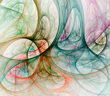 holey: Layered holey textures in pastel colors - fractal abstract background Stock Photo