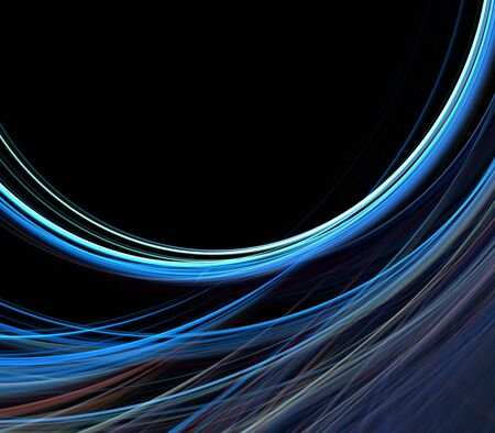 Loosely woven, threaded textures in gentle curve with copy space - fractal abstract background photo
