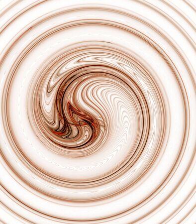 Bruin, gelaagd draaieffect - fractal abstracte achtergrond