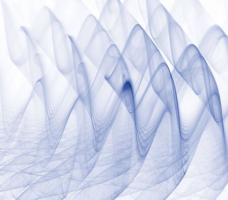 Vloeiende, kabbelend rook textuur in het blauw - fractal abstract achtergrond Stockfoto