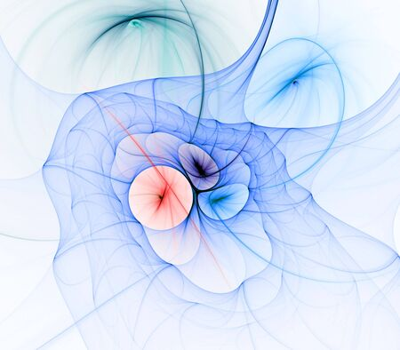 Kleurrijke weefsel texturen en vormen design - fractaal abstracte achtergrond Stockfoto