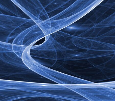 gauzy: Flowing, blue gauzy textures - fractal abstract background