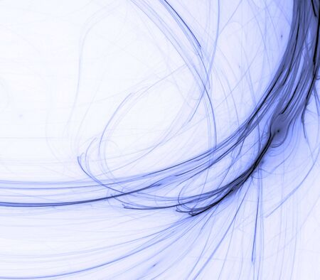 frayed: Branching, frayed flowing blue threaded textures  - fractal abstract background