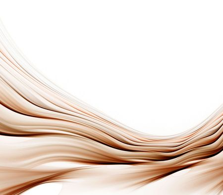 ripple effect: Brown, flowing layers of silky textures with copy space - fractal abstract background