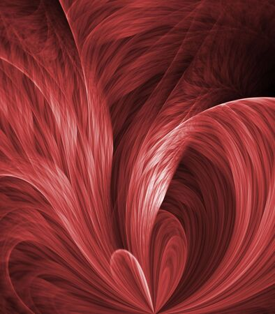 功妙な抽象的な背景 - 流れる赤い層、湾曲、テクスチャをファニング