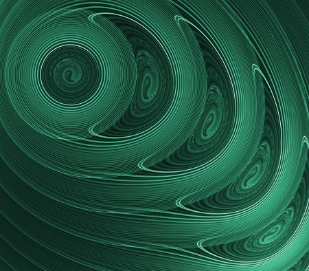 centers: Artistic Abstract Background - Green, layered circles design with swirl centers Stock Photo
