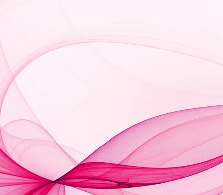 fractal pink: Artistic Abstract Background -  Flowing hot pink smooth textures against white backdrop with copy space