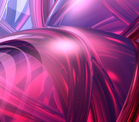fuschia: Abstract Background - 3d effect, arches and orbs collage in red hues