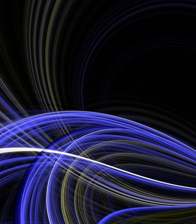threaded: Abstract Background -  Flowing, tangling layers of blue threaded textures with copy space