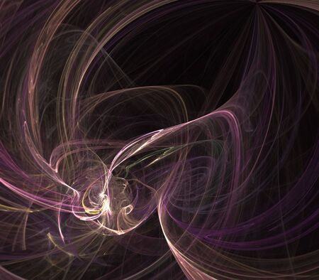 tangling: Abstract Background - Tangling string textures in purple against black background Stock Photo