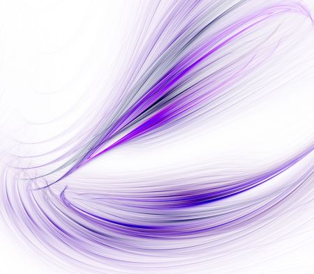 against abstract: Abstract Background - Flowing lavender fibers design against white with copy space