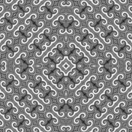 Background Overlay - Seamless tiling, spiral shapes tightly woven, in monochrome colors for blending and colorizing. Perfect for designers! photo