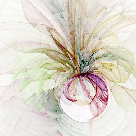 Abstract Background - Colorful, flowing gauzy textures against white backdrop.