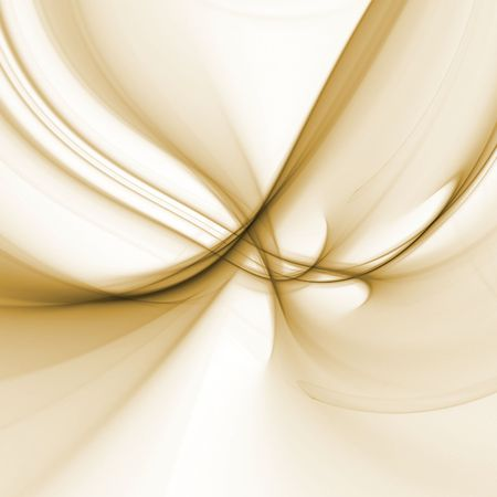 Abstract Background - Natural brown colored textures and threads flowing and tangling against white backdrop. Stock Photo