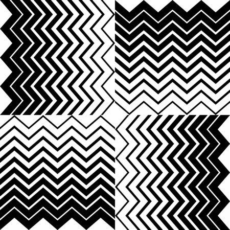 Fashion zigzag pattern, seamless vector background. Futuristic vibrant design. Geometric tile in op art. technologic design. Memphis style.Vector