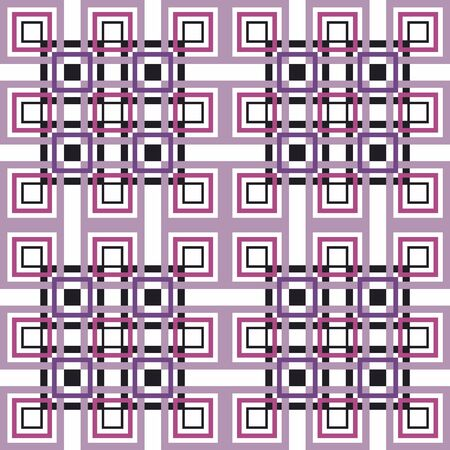 Seamless geometric pattern. Vector abstract classical background. Modern stylish texture. Repeating geometric tiles with square elements Illustration