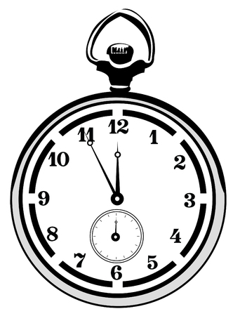 metering: Vector illustration of a watch isolated on white background Illustration
