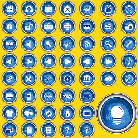 Illustration of buttons in high resolution for web sites portfolio etc. Vector
