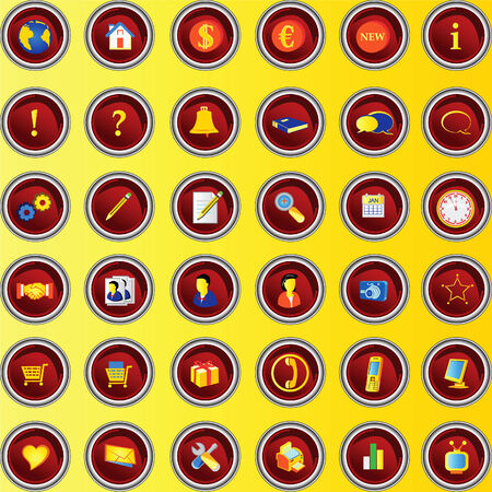 red buttons for portfolio websites promotions etc. Stock Vector - 5217032