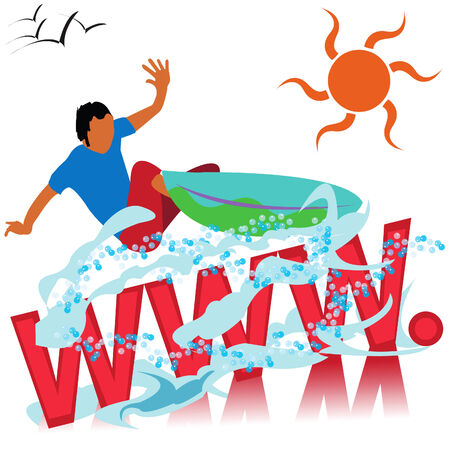 Abstract illustration of a surfer suitable for logo web sites promotions etc.