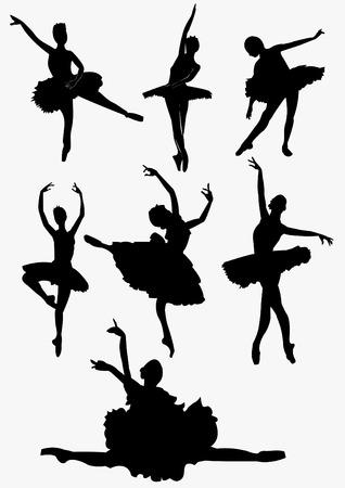 ballet ni�as: Stock Foto: Bailarines del Ballet Siluetas