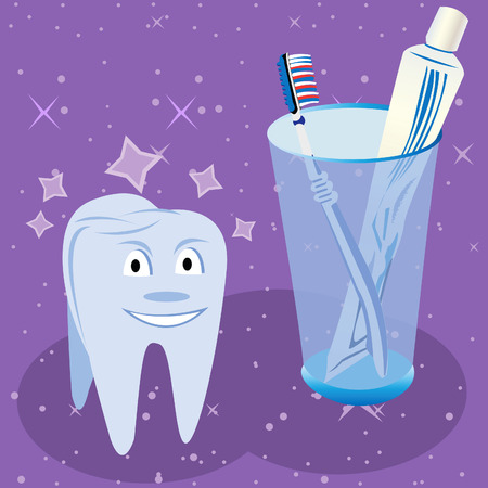 tooth fairy: Dental Care Illustration