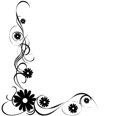 floral vector: vector illustration of a floral image