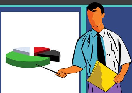 Vector illustration of a man giving a presentation Stock Vector - 5378676