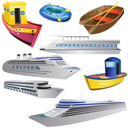Boat Icon Set Stock Vector - 5378683